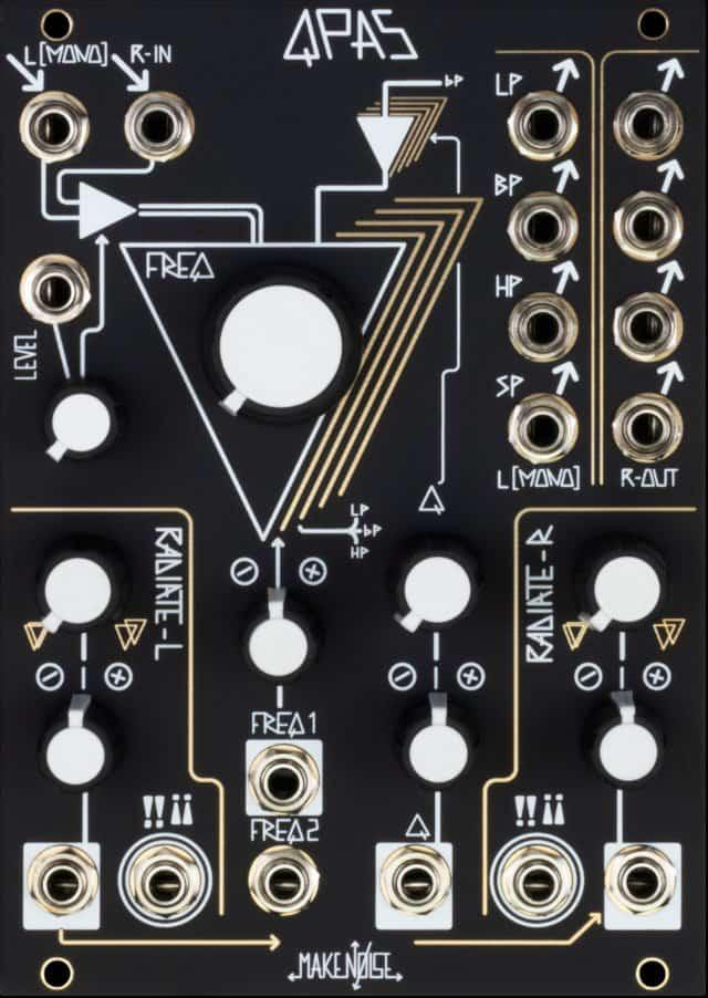 Make Noise QPAS Eurorack Quad Core Stereo Filter Module
